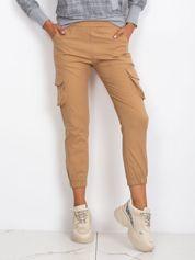 Ciemnobeżowe spodnie Sally