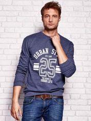 Ciemnoniebieska bluza męska z napisem URBAN STYLE
