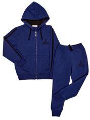 Ciemnoniebieski dresowy komplet dla chłopca bluza i spodnie
