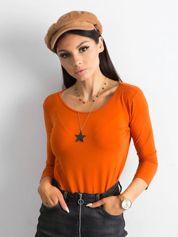 Ciemnopomarańczowa bluzka Mona