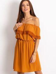 Ciemnopomarańczowa sukienka Serenity