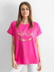 Ciemnoróżowy t-shirt Kingdom