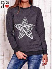 Ciemnoszara bluza z gwiazdą