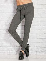 Ciemnoszare melanżowe spodnie dresowe