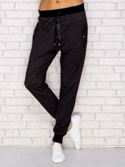 Ciemnoszare spodnie dresowe z kieszeniami