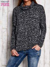 Ciemnoszary melanżowy sweter z golfem