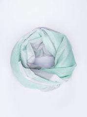 Ciemnozielona bawełniana chusta duża w pasy