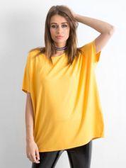 Ciemnożółta bluzka Oversize