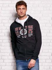 Czarna bluza męska z nowojorskimi motywami