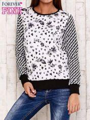 Czarna bluza z motywem serduszek i geometrycznym tyłem