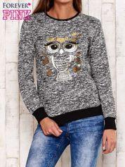 Czarna bluza z motywem sowy