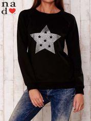 Czarna bluza z nadrukiem gwiazdy