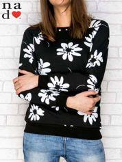 Czarna bluza z nadrukiem kwiatowym