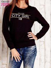 Czarna bluza z napisem CITY GIRL