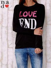 Czarna bluza z napisem LOVE END