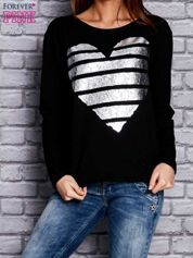 Czarna bluza z sercem