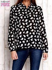 Czarna bluzka w pandy