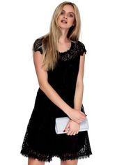 Czarna koronkowa sukienka damska