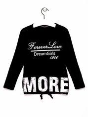 Czarna tunika dla dziewczynki z napisem FOREVER LOVE