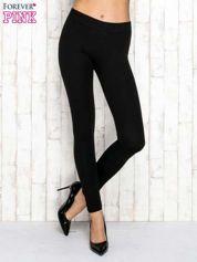 Czarne gładkie legginsy
