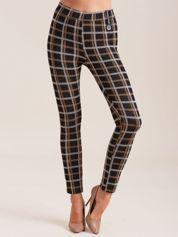 Czarne spodnie we wzór kraty