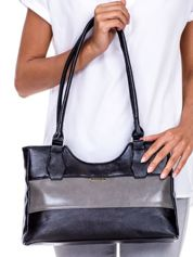 Czarno-szara torebka na ramię