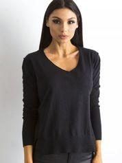 Czarny luźny damski sweter