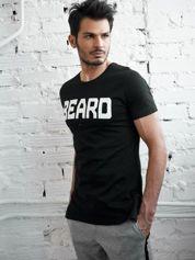 Czarny t-shirt męski z napisem