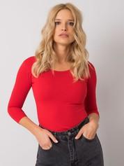 Czerwona bawełniana bluzka basic