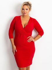 Czerwona sukienka plus size Miranda
