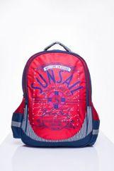 Czerwony plecak szkolny DISNEY z motywem żeglarskim