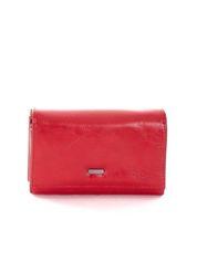 Czerwony portfel damski z kieszeniami