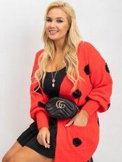 Czerwony sweter plus size Nicki
