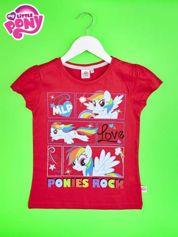 Czerwony t-shirt dla dziewczynki z motywem MY LITTLE PONY