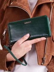 Damski portfel skórzany zielony