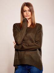 Dzianinowy sweter khaki