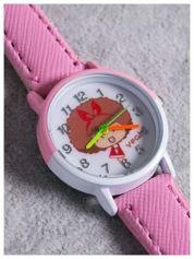 Dziecięcy rózowy zegarek z dwukolorową kopertą DZIEWCZYNKA