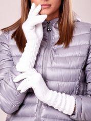 Butik Ecru długie rękawiczki z drapowanym rękawem