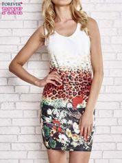 Butik Ecru dopasowana sukienka z motywem pantery