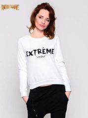 Ecru klasyczna bluza damska z napisem EXTRÉME UNIQUE