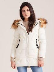 Ecru zimowa damska kurtka