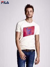 FILA Ecru t-shirt z kolorowym nadrukiem