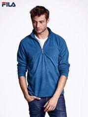 FILA Niebieska bluza męska z suwakiem