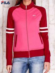 FILA Różowa bluza z paskami na rękawach