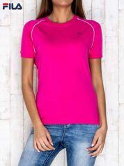 FILA Różowy t-shirt z jasnymi wstawkami