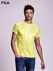 FILA Żółty t-shirt męski w sportowym stylu
