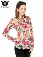 Fioletowa koszula w kolorowe zygzaki