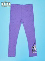Fioletowe legginsy w kropki dla dziewczynki 101 DALMATYŃCZYKÓW