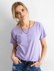 Fioletowy bawełniany t-shirt