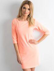 Fluo pomarańczowa sukienka z bawełny